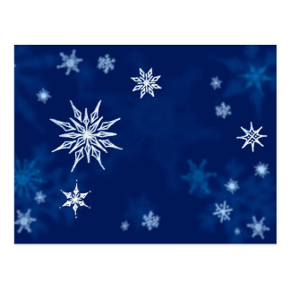 Snowflakes Midwinter Night Postcard