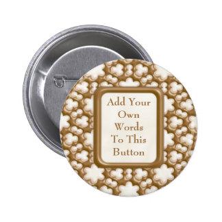 Snowflakes - Milk Chocolate and White Chocolate Pinback Button