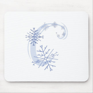 Snowflakes Mouse Pads