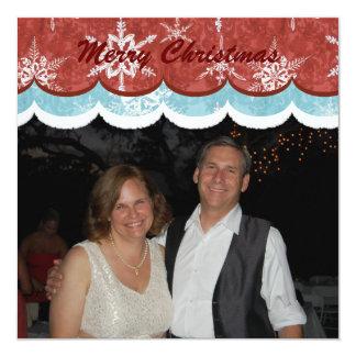 Snowflakes n Reindeer, Photo Christmas Card