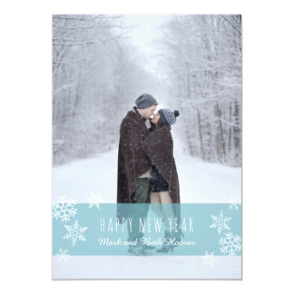 Snowflakes New Year Card (BLUE)