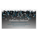 Snowflakes on black event planner business card