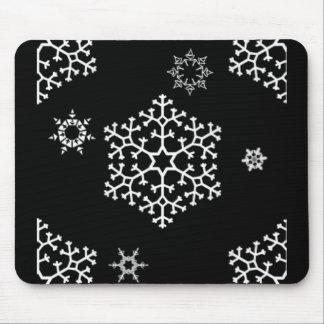 snowflakes_on_black tapetes de raton