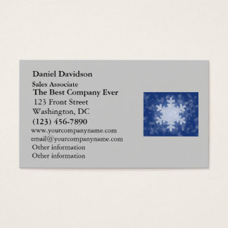 Snowflakes on Blue Christmas Design Business Card