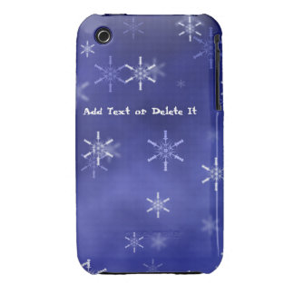 Snowflakes on blue iphone 3 G/GS casemate iPhone 3 Case