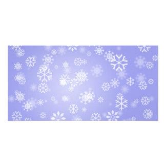 Snowflakes-on-blue-light1688 LIGHT BLUE SNOWFLAKES Card