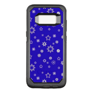 Snowflakes on Blue OtterBox Commuter Samsung Galaxy S8 Case