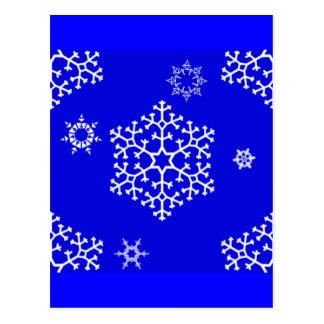 snowflakes_on_blue postcard