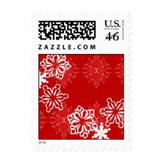 Snowflakes on Brocade Stamp
