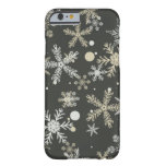 Snowflakes on Dark Background Barely There iPhone 6 Case