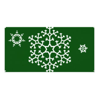 snowflakes_on_dark_green card