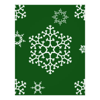 snowflakes_on_dark_green flyer