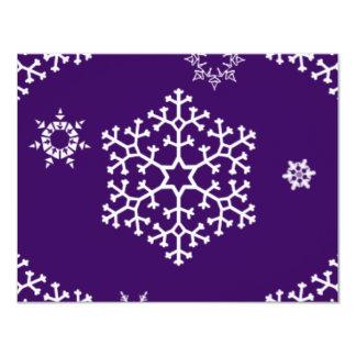 snowflakes_on_dark_purple custom invitation