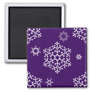 snowflakes_on_dark_purple magnet