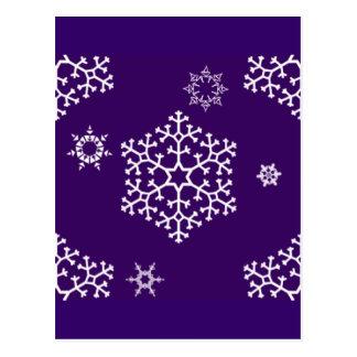 snowflakes_on_dark_purple postcard