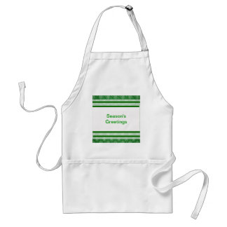 Snowflakes on green adult apron