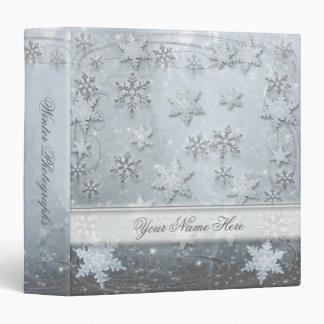 Snowflakes on Ice 3 Ring Binders