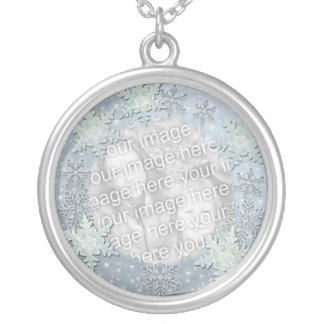 Snowflakes on Ice Border Necklaces