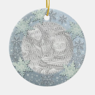 Snowflakes on Ice Border Ornament