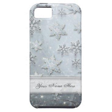 linda_mn Snowflakes on Ice iPhone SE/5/5s Case