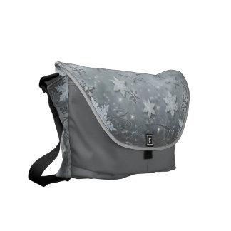 Snowflakes on Ice Messenger Bag
