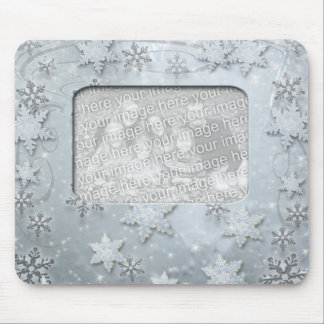 Snowflakes on Ice Mouse Pad