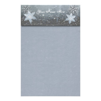 Snowflakes on Ice Stationery