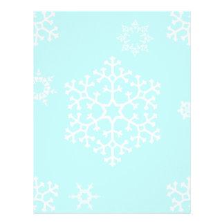 snowflakes_on_light_blue membrete personalizado