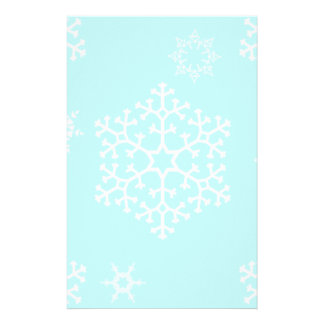 snowflakes_on_light_blue stationery design