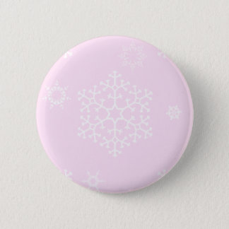 snowflakes_on_light_pink pinback button