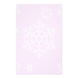 snowflakes_on_light_pink stationery