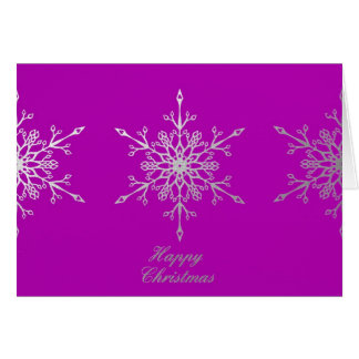 Snowflakes on Pink 2 Card