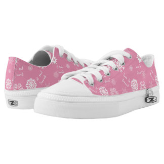 Snowflakes On Pink Let It Snow Printed Shoes