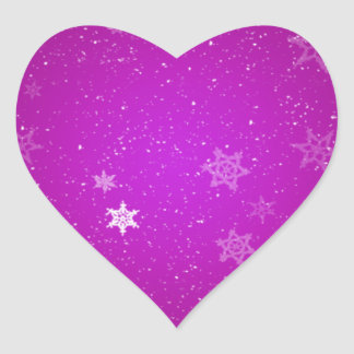 Snowflakes on Purple Sparkles Sticker