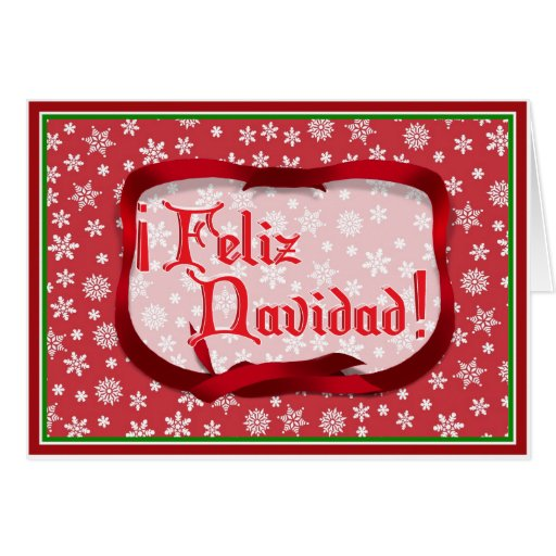 Snowflakes on Red Background Card