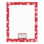 Snowflakes on Red Background Letterhead Design