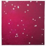 Snowflakes on Red Napkin