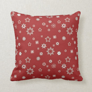 Snowflakes on Red Pillows