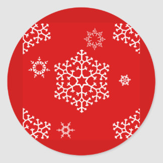 snowflakes_on_red stickers