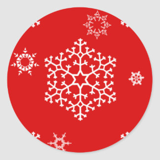snowflakes_on_red sticker