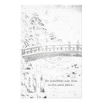 Snowflakes on the Bridge Stationery
