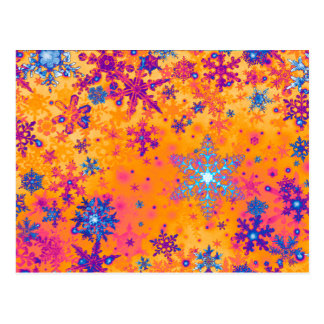 Snowflakes on Titan postcard