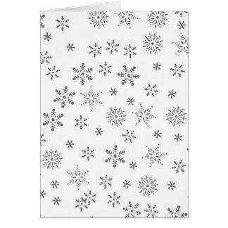Snowflakes on White  Background Card