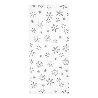 Snowflakes on White  Background Rack Card