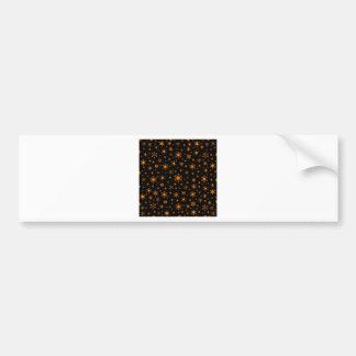 Snowflakes – Orange on Black Bumper Sticker