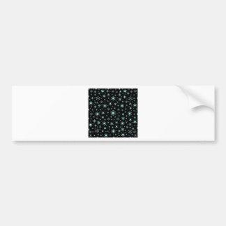 Snowflakes – Pale Blue on Black Bumper Stickers