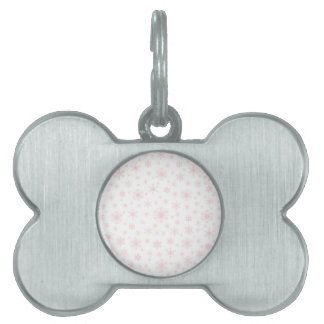 Snowflakes – Pale Pink on White Pet Name Tags