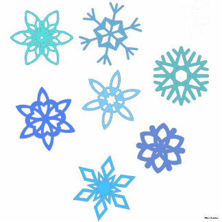 Snowflakes Pattern 3D Photo Silhouette Statuette