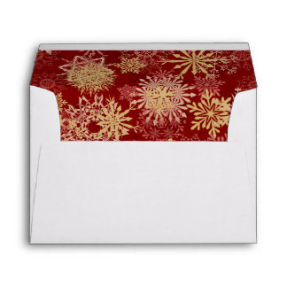 Snowflakes Pattern on Red Envelope