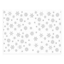 Snowflakes Pattern on White Postcard